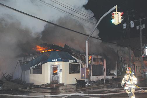 Businesses Burn in Williston Park