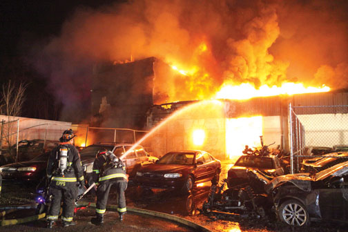 Colwyn Borough Building Fire