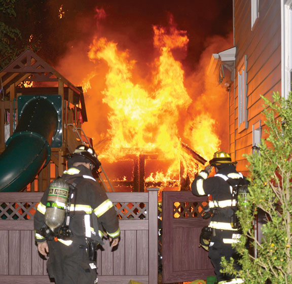 Haddonfield Shed Fire Stopped, House Saved