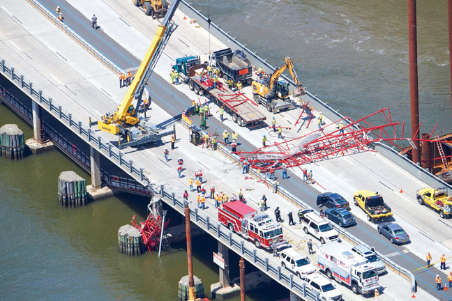 Crane Collapse on Tappan Zee