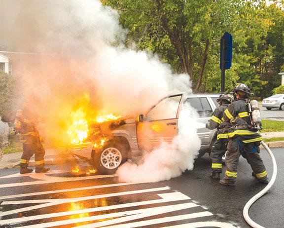 Hackensack Car Fire