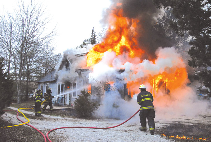 House Fire Draws a Crowd