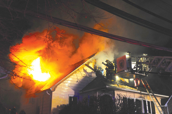 Floral Park House Fire Jumps