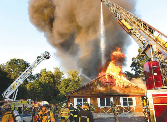 Collapse at Clifton Park Blaze