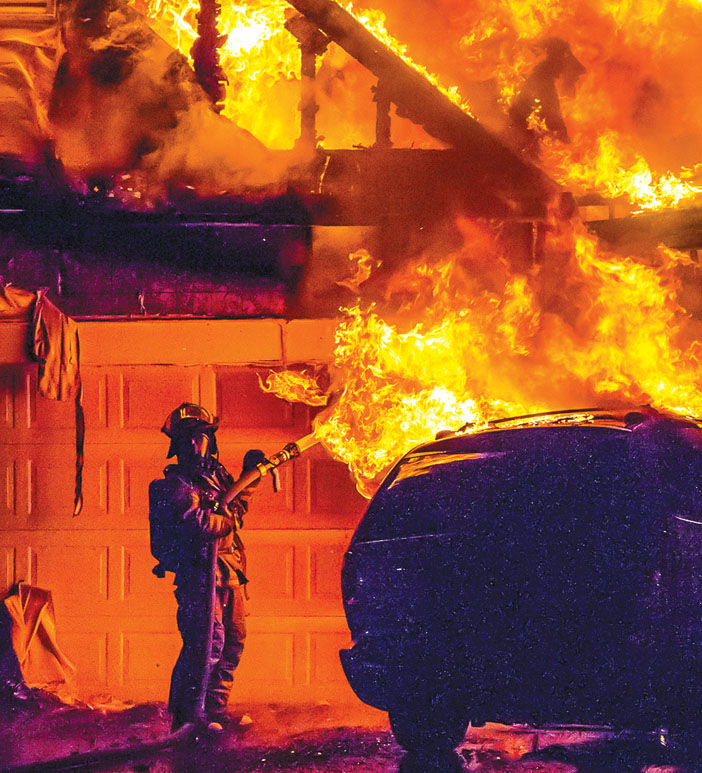 Quick Works Holds Chili Garage Fire