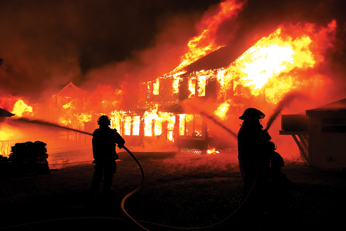 Christmas Night Blaze in Sussex County