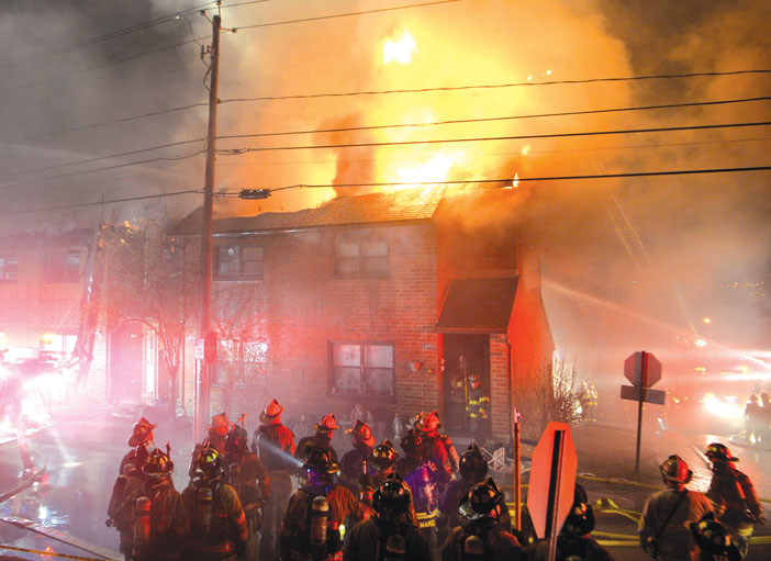 Flames Gut Rensselaer Apartment Complex