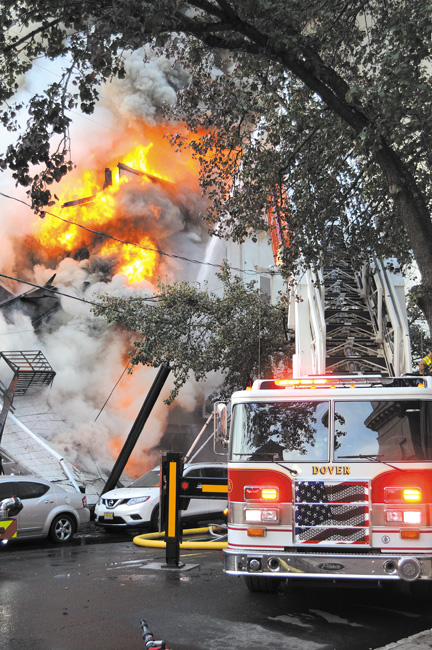 Massive 7 Alarm Fire Disrupts Downtown Dover Business District
