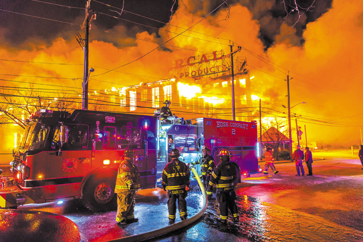 10-Alarm Fire in Elmwood Park
