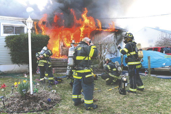 Arrest at Bellport House Fire