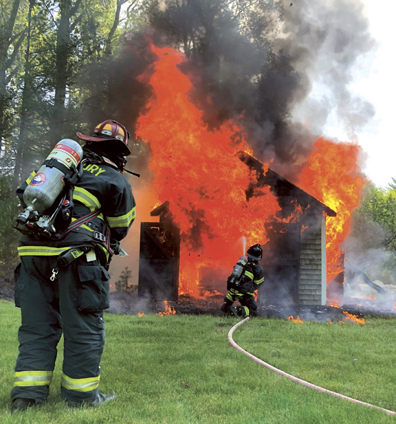 Shed Fire in Duxbury