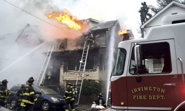Interior Collapse at Irvington Blaze