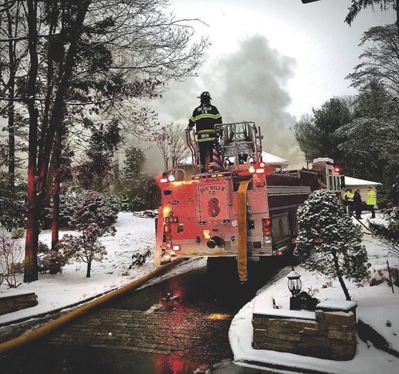 Dix Hills Battles House Fire During Snowstorm