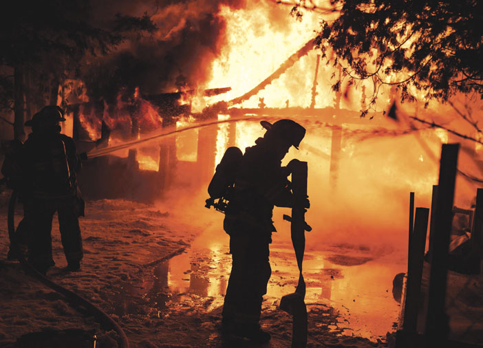 Flames Light the Sky in Schenectady