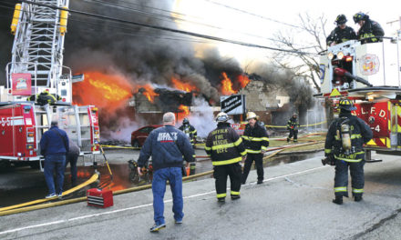 Commercial Fire, Wall Collapse in East Farmingdale