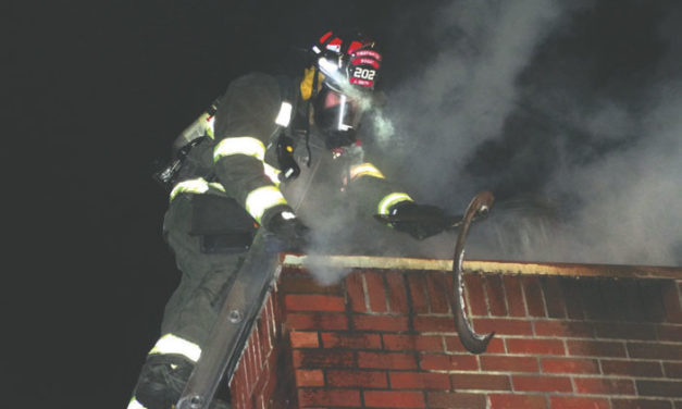 Difficult Chimney Fire in Latham