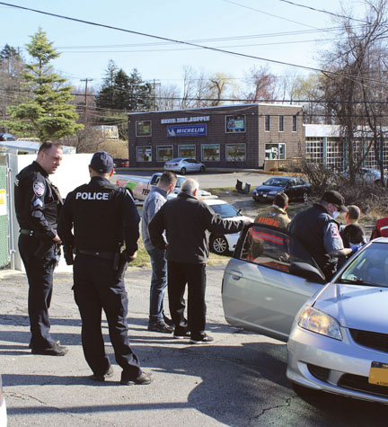 Car Hits Building in Mahopac