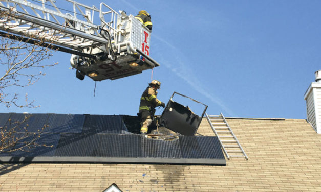 Solar Panel Causes Roof Fire