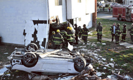 Car Through House in Hicksville