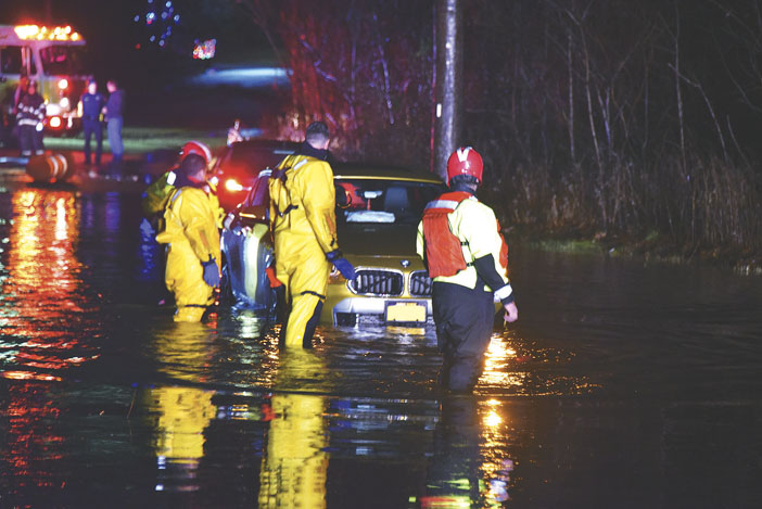 Water Rescue in Smithtown Flooding