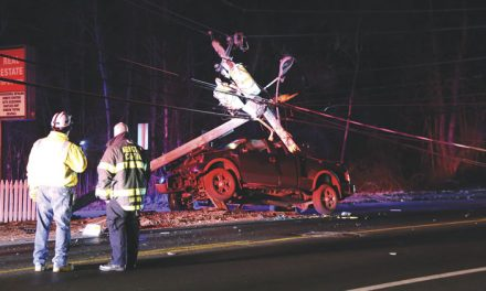 Pickup Collides with Pole in Abington