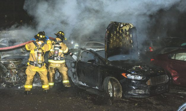 Cars Burn in Yaphank