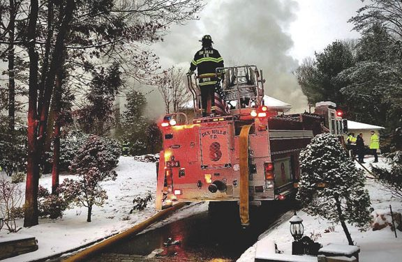Dix Hills Battles House Fire During Snowstorm