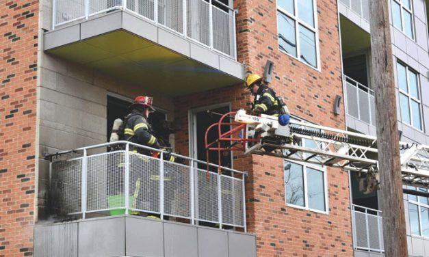 Balcony Fire in Farmingdale