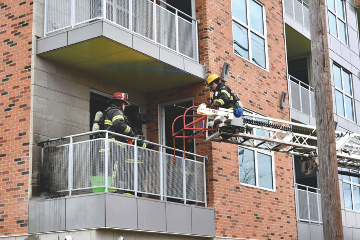 Balcony Fire in Farmingdale
