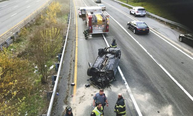 Malverne, Lakeview Respond to Rollover
