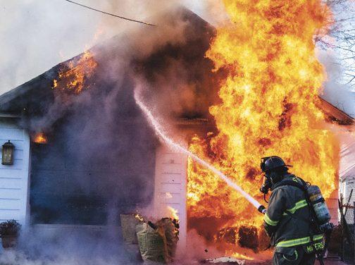 Garage Fire on Wendell Avenue