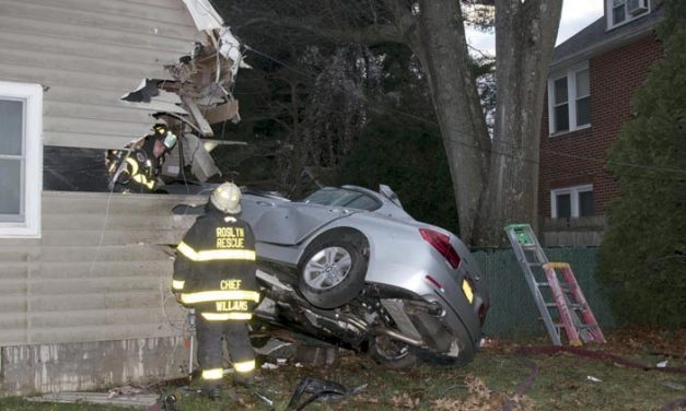 Fatality at Car versus House with Fire