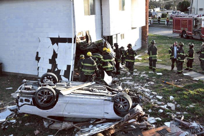 Car Through House in Hicksville