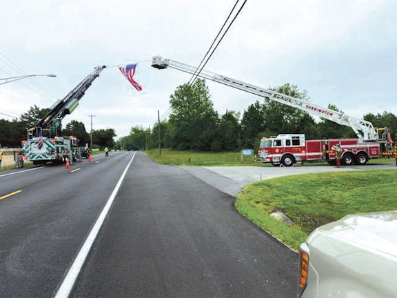 Tower 50 and Quint 78 Assist with Funeral for Past-Chief Jack Bradley