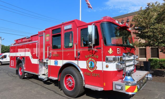 New Pierce Pumper for Bangor FD in Maine