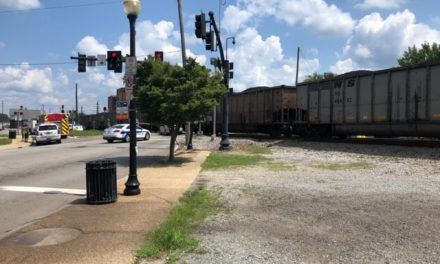 Train versus vehicle in downtown Suffolk, VA