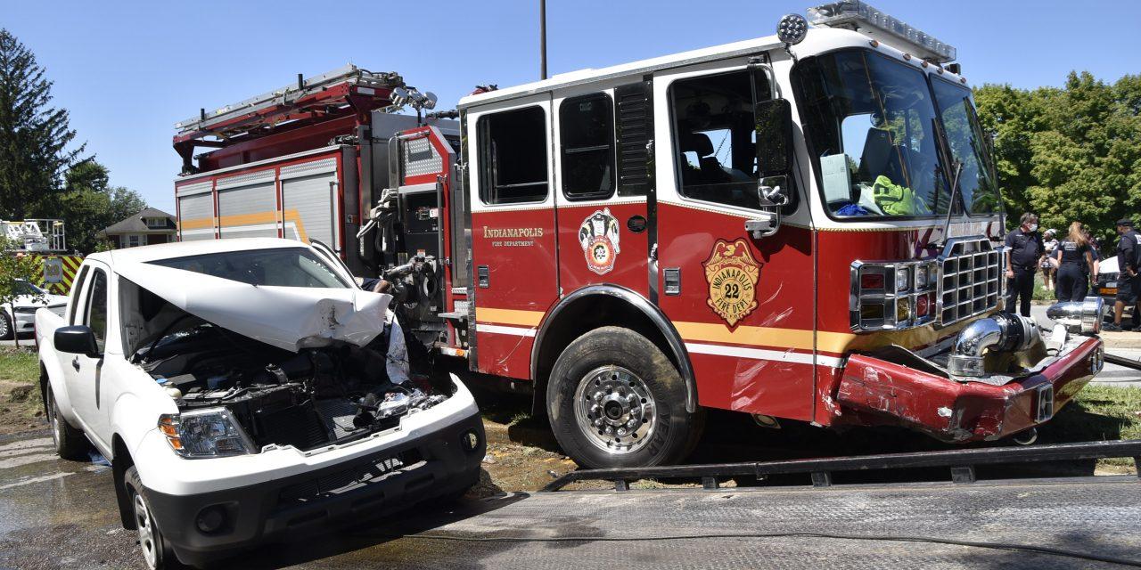 Crash involving fire apparatus in Indianapolis