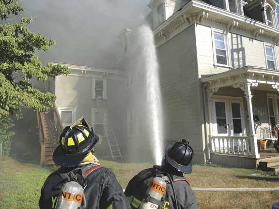 Norwich 3-Alarm Draws a Crowd
