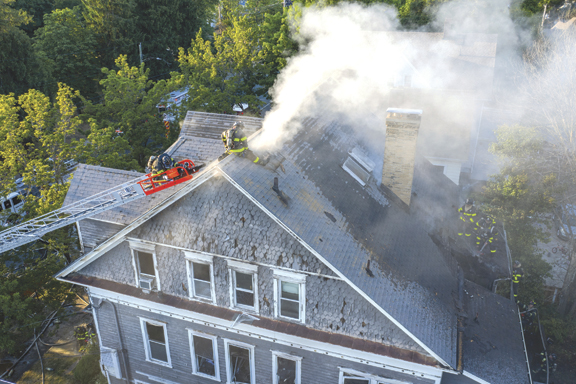 Heavy Fire on Arrival in New Haven