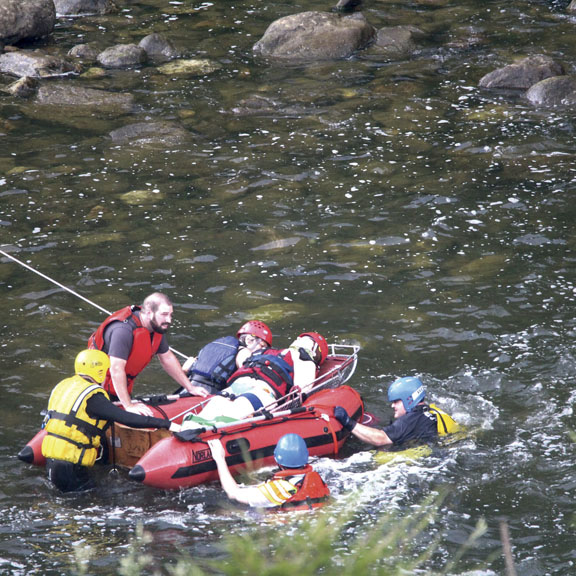 Water Rescue in Fall's Village