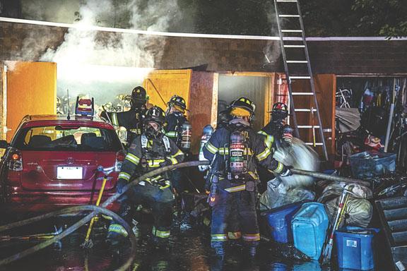 Elizabeth 2-Alarm Garage Storage Fire