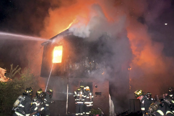 Day After Shooting, House Burns