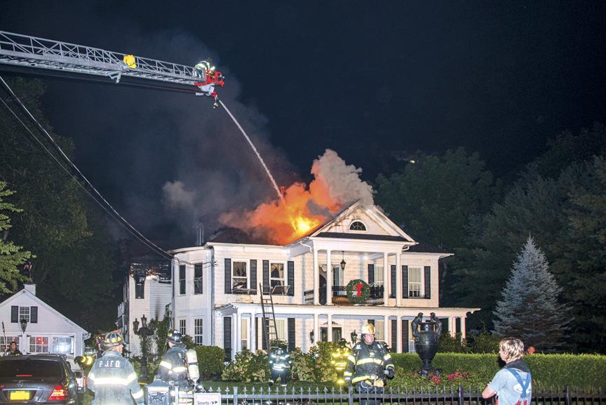 Fire Breaks Out in Port Jefferson
