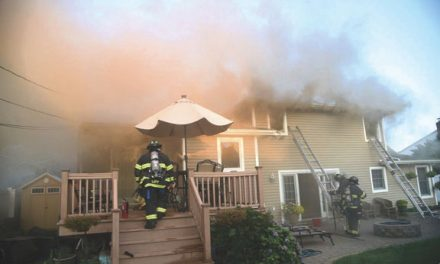 BBQ Fire Extends in Bethpage