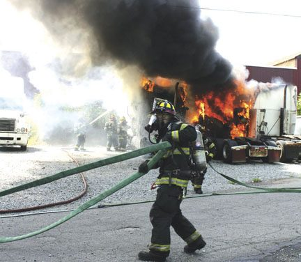Tractor Truck Fires in Mt. Olive