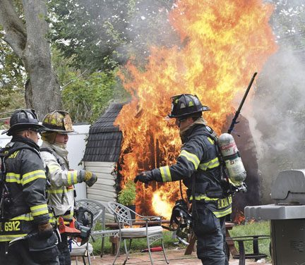 East Meadow Shed Fire