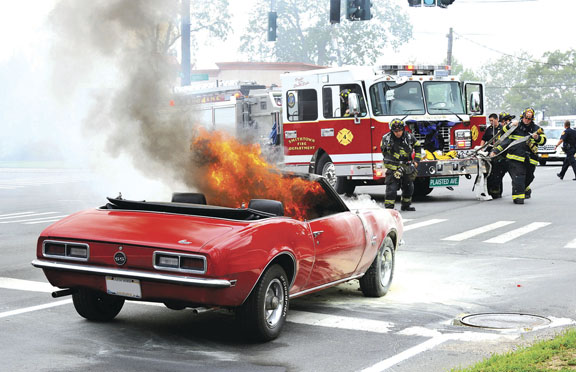 Classic Car Burns in Smithtown