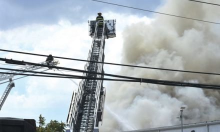 Fire in Hempstead Scrap Metal Yard