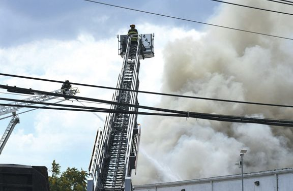 Fire in Hempstead Scrap Metal Yard