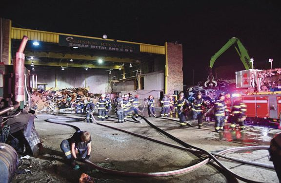 Fire at Valley Stream Recycling Plant
